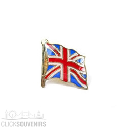 Wavy Union Jack Flag Lapel Pin Badge