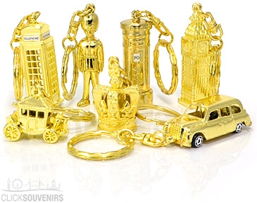 Gold Souvenir Keyrings
