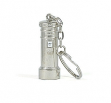 Silver Metal Post Box Keyring