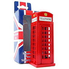 Diecast Metal British Telephone Box Pencil Sharpener