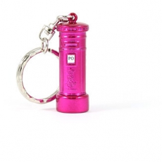 Metal Pink Post Box Keyring