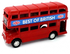 Diecast Metal Red Double Decker Bus Pencil Sharpener