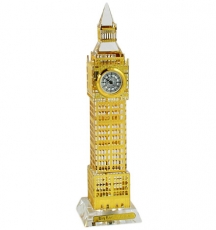 17cm Light Up Gold Plated Crystal Big Ben Clock