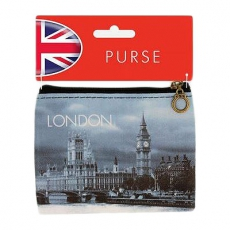 London Big Ben Black and White Photographic Zip Purse