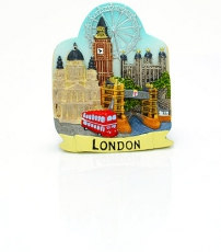Resin London Collage Magnet