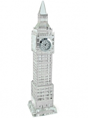 22cm Light Up Silver Plated Crystal Big Ben Clock