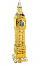 22cm Light Up Gold Plated Crystal Big Ben Clock