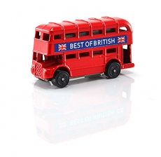 Die Cast Metal Red Double Decker Bus Magnet