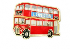 Metal Red Double Decker Bus Magnet