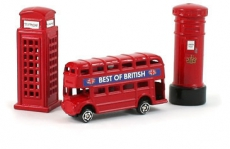 Gift Set of Three Die Cast Metal London Magnets
