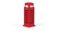 Red Die Cast Metal Telephone Box Magnet