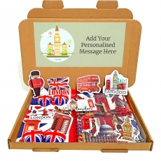 Union Jack Note Book & Chocolate Letterbox Gift