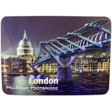 Vinyl 3D Millennium Bridge London Souvenir Magnet