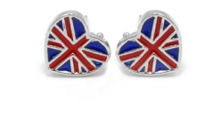 Union Jack Heart Earrings