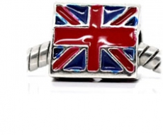 Union Jack Spacer Bead Charm