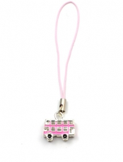 Pink Bus Phone Charm
