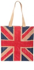 UK Union Jack Jute Bag