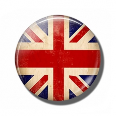 Pebble Look Vintage Union Jack Magnet