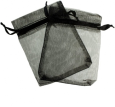 Black Organza Gift Bag 9 x 7cm