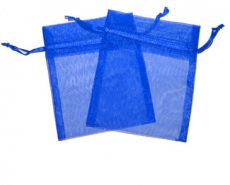 Royal Blue Organza Gift Bag 9 x 7cm