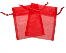 Red Organza Gift Bag 9 x 7cm