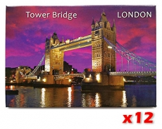 12x Magnet with Tower Bridge & the River Thames