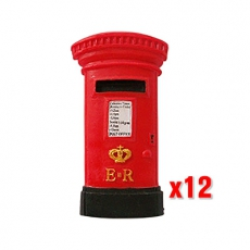 12x Large Red Post Box Magnets