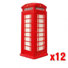 12x London Telephone Box Magnets