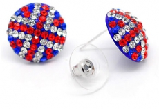 Union Jack Rhinestone Earrings