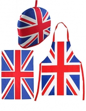 Union Jack Apron, Tea Towel and Cosy Gift Set