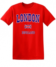 Childrens Red Capital London T-Shirt