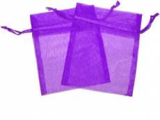 Purple Organza Gift Bag 9 x 7cm