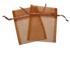 Chocolate Organza Gift Bag 9 x 7cm