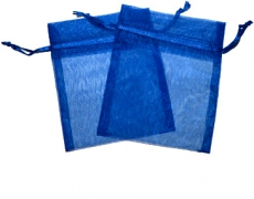 Navy Blue Organza Gift Bag 9 x 7cm