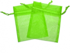Emerald Green Organza Gift Bag 9 x 7cm