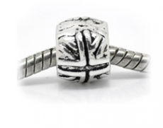 Silver Union Jack Charm Bead