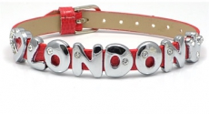 Red Love London Diamante Letters Bracelet