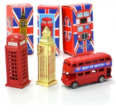 Gift Set of Three Diecast Metal Mini London Models