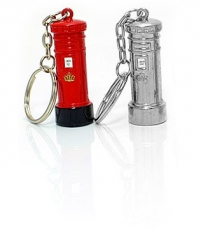 Two Metal Post Box Keyrings