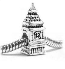 Antique Silver Big Ben Bead for Charm Bracelet