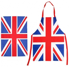 Union Jack Apron and Tea Towel Gift Set