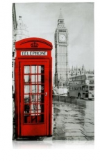 Big Ben and Telephone Box Photographic Tea Towel
