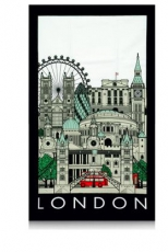 London Cityscape Souvenir Tea Towel