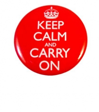 Keep Calm and Carry On Round Badge