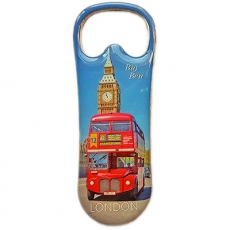 London Souvenir Bottle Opener Magnet