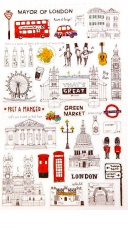 Funny London City Lifestyle PVC Sticker Gift Set