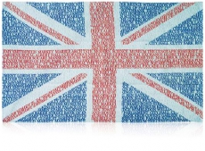 UK Union Jack Typography Tea Towel