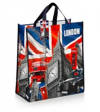 British Capital London Non-Woven Shopping Bag