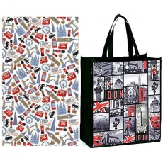 Sights of London Shopping Bag and Tea Towel Gift Set
