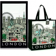 London Cityscape Shopping Bag and Tea Towel Gift Set